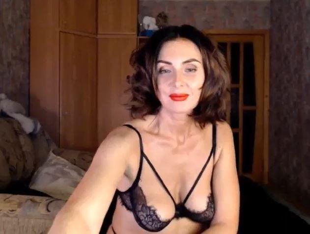 Mujer cincuentona de la webcam